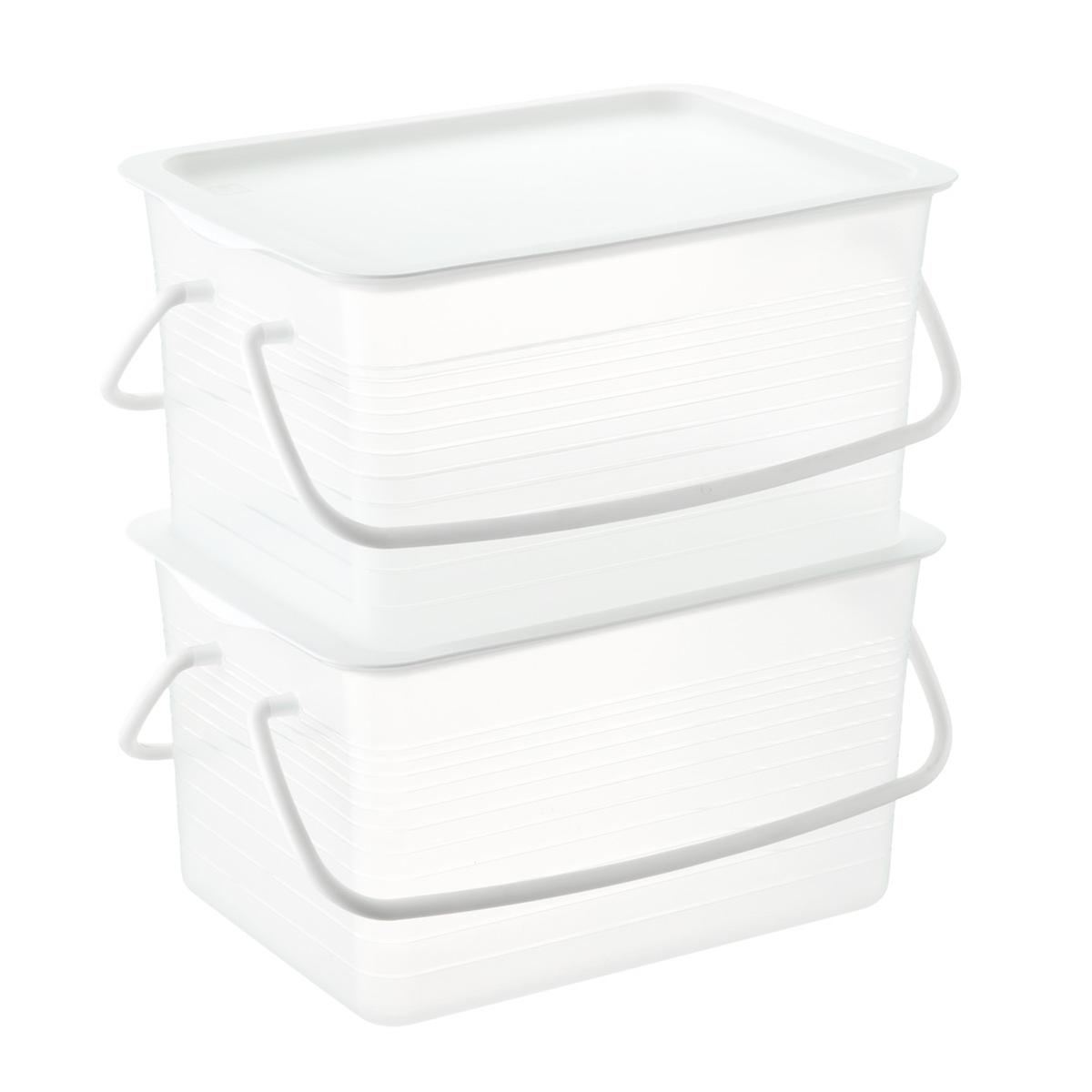Iris Clear Stackable Plastic Basket with Handles