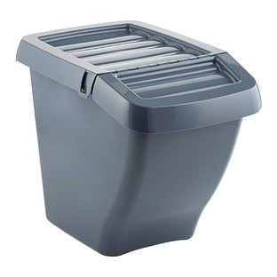 Grey Stackable Recycle Bin