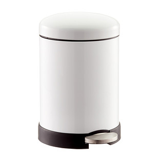 Glossy Round Retro Step Trash Can
