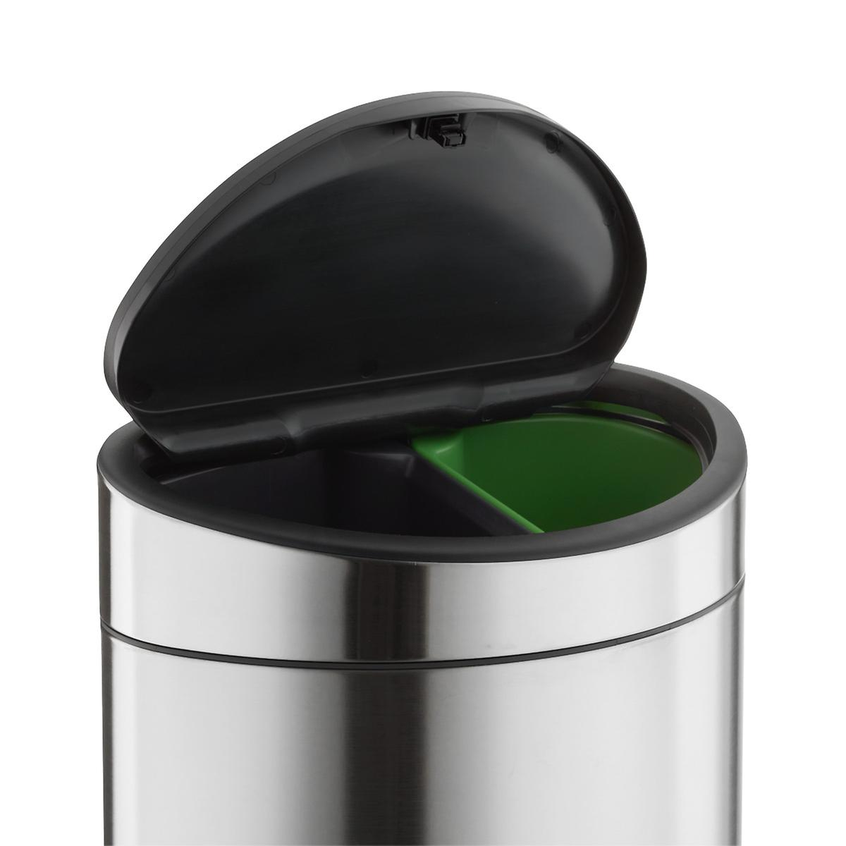 Brabantia Stainless Steel 8.6 gal./33L Touch-Top Dual Recycle Bin