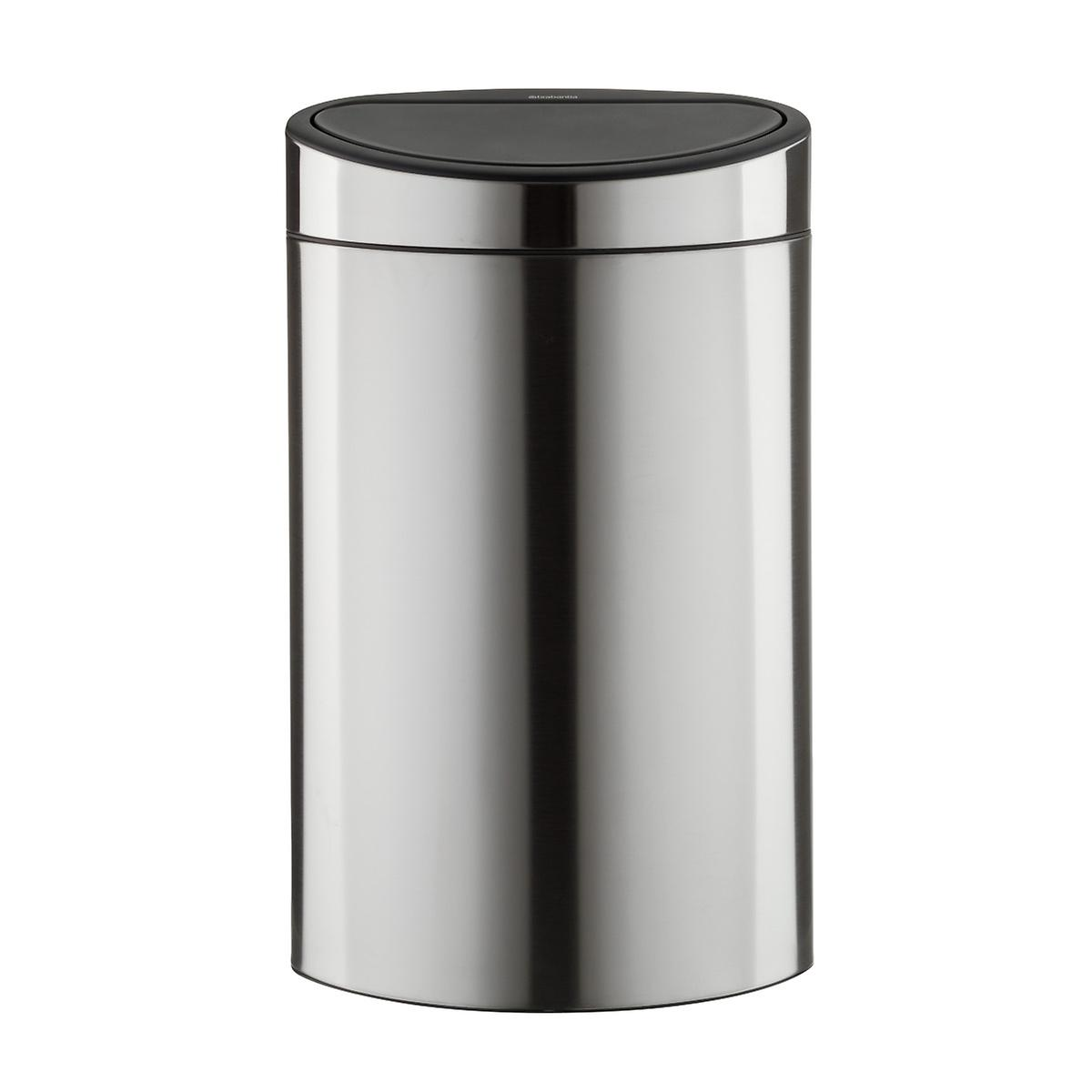 brabantia stainless steel 8 6 gal 33l touch top dual recycle bin the container store. Black Bedroom Furniture Sets. Home Design Ideas