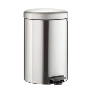 Brabantia Stainless Steel 5.3 gal./20L Round Step Can