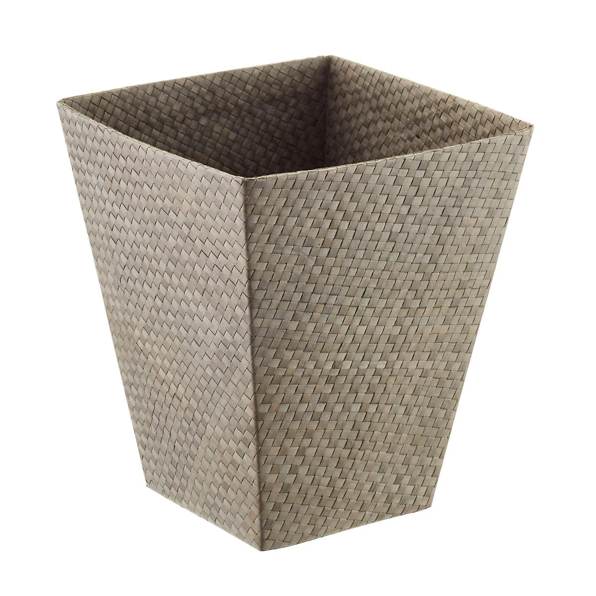 Grey Square Pandan Trash Can
