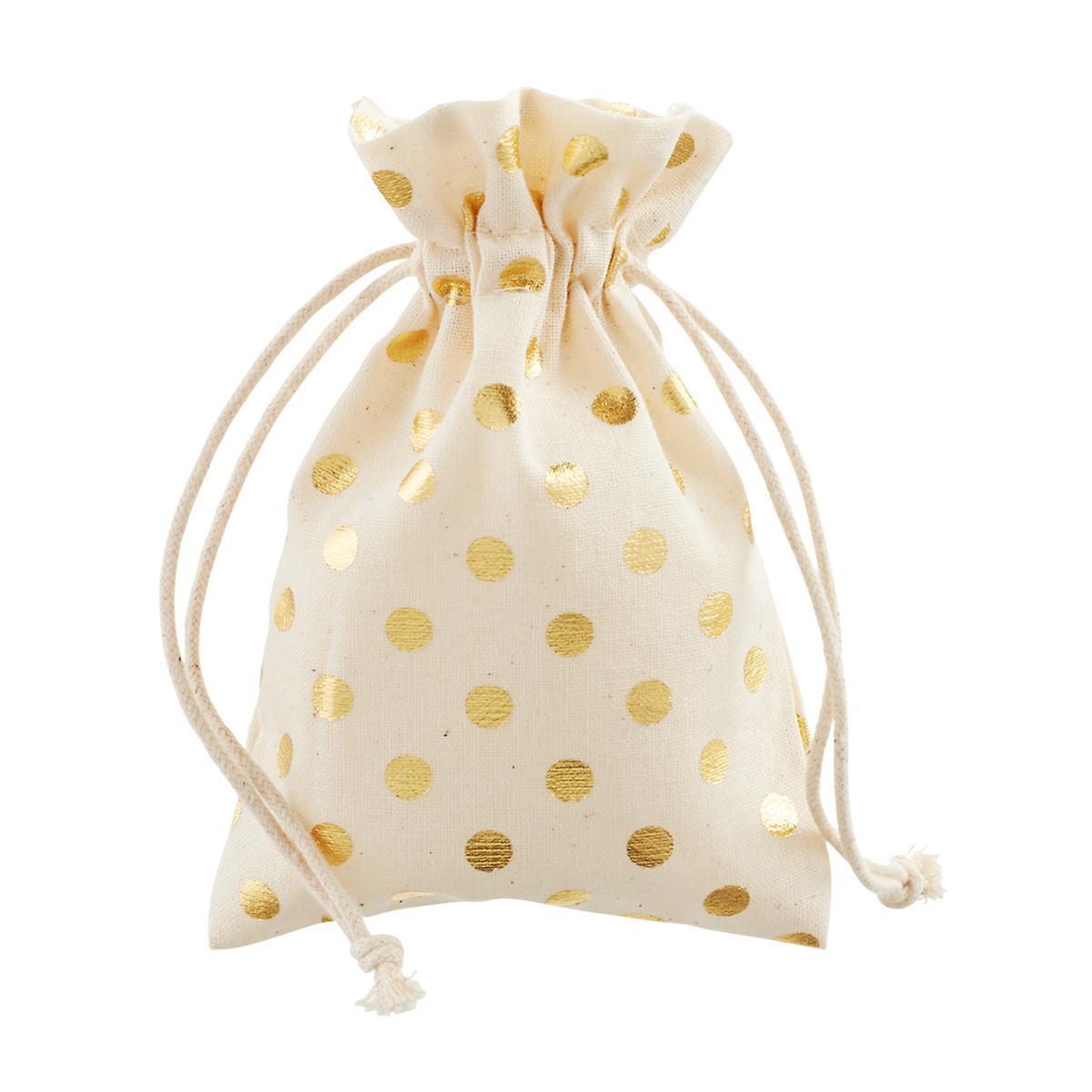 Gold Dots Cotton Sack