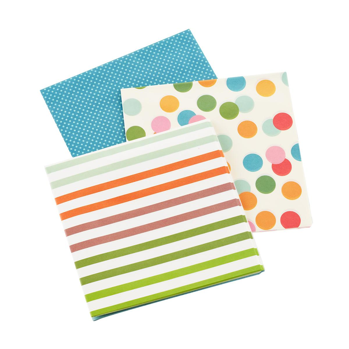 Dots & Stripes Waxed Tissue Sheets
