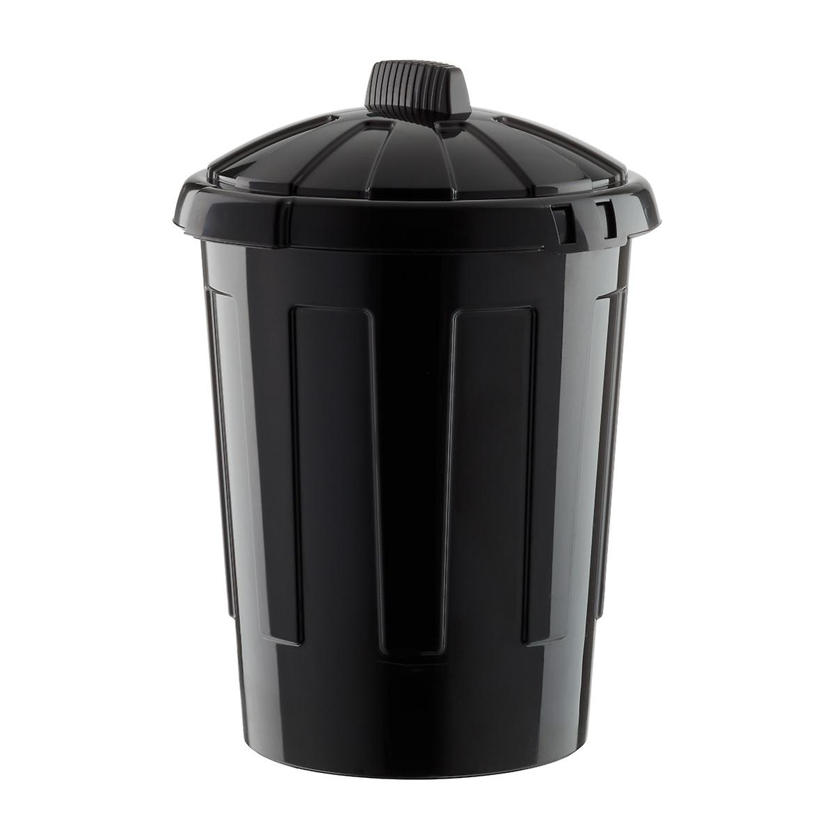 Black 21 gal. / 80L Round Plastic Trash Can