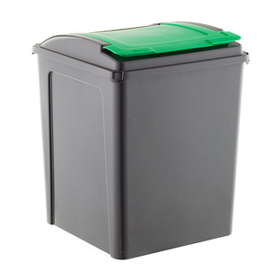 garage trash cans stackable recycle bins the container store. Black Bedroom Furniture Sets. Home Design Ideas