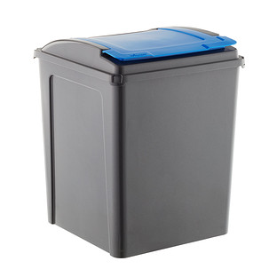 Graphite &  Blue 13 gal. Recycling Bin