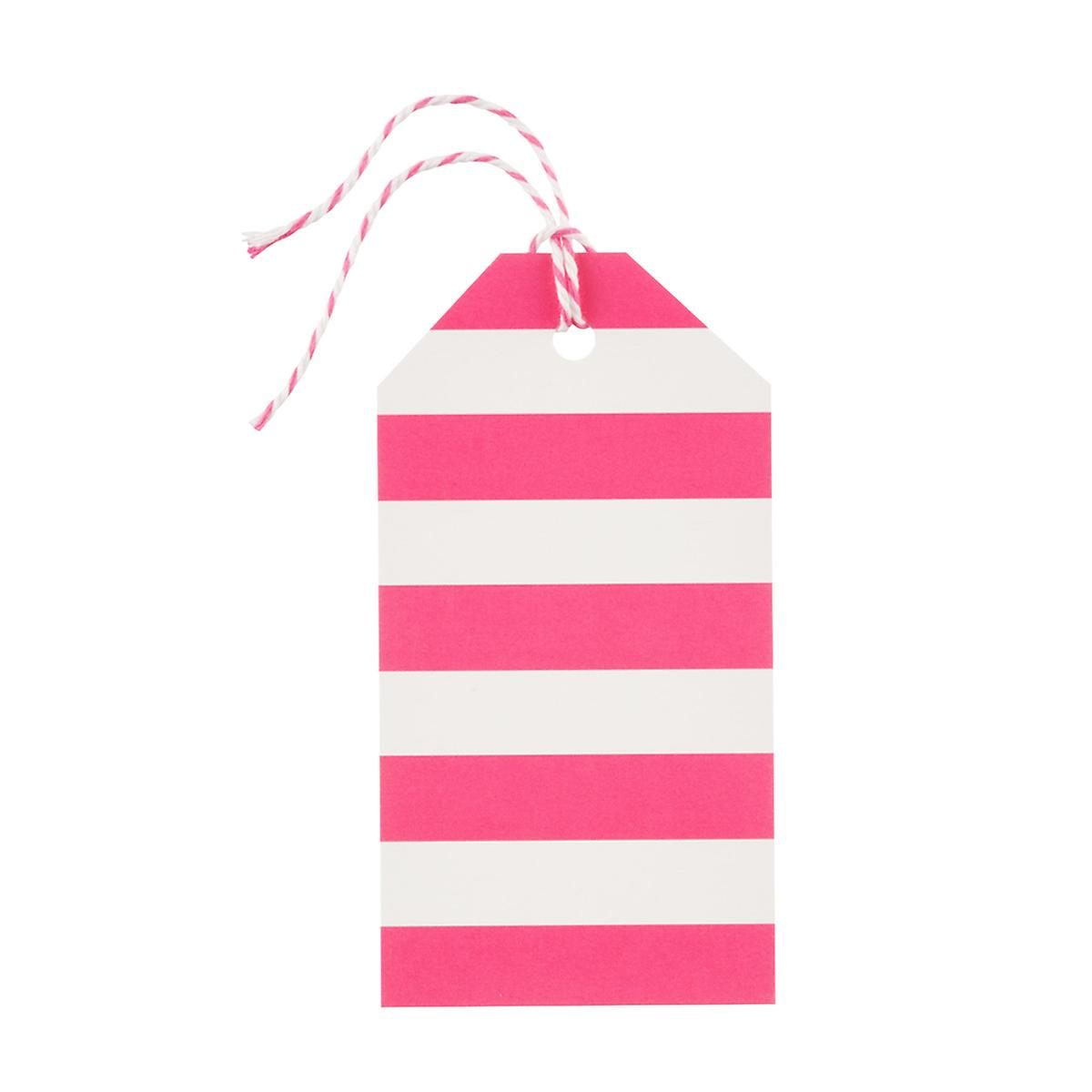Pink Stripe Gift Tags
