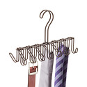 Bronze Classico Horizontal Tie & Belt Rack