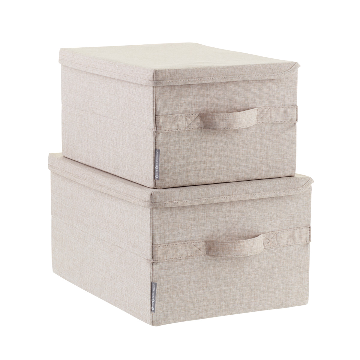 Captivating Bigso Flax Soft Storage Boxes With Handles