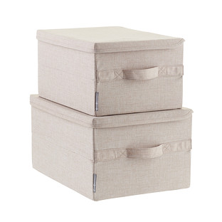 Bigso Flax Soft Storage Boxes with Handles