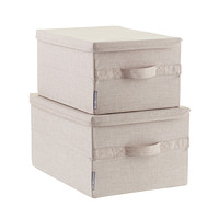 Bigso Flax Soft Storage Boxes