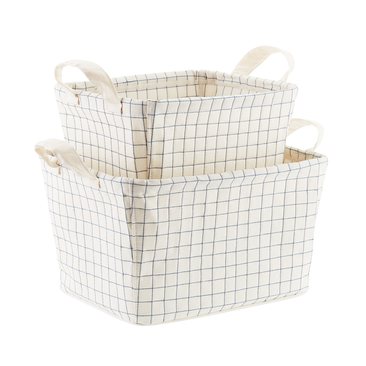 Canvas Quilted Bins