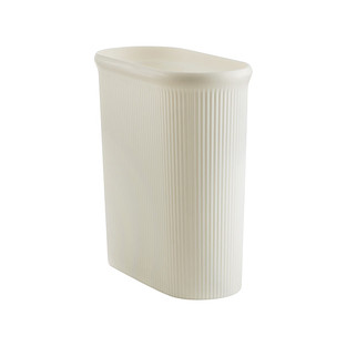 Lustroware Pearl White Oval Trash Can