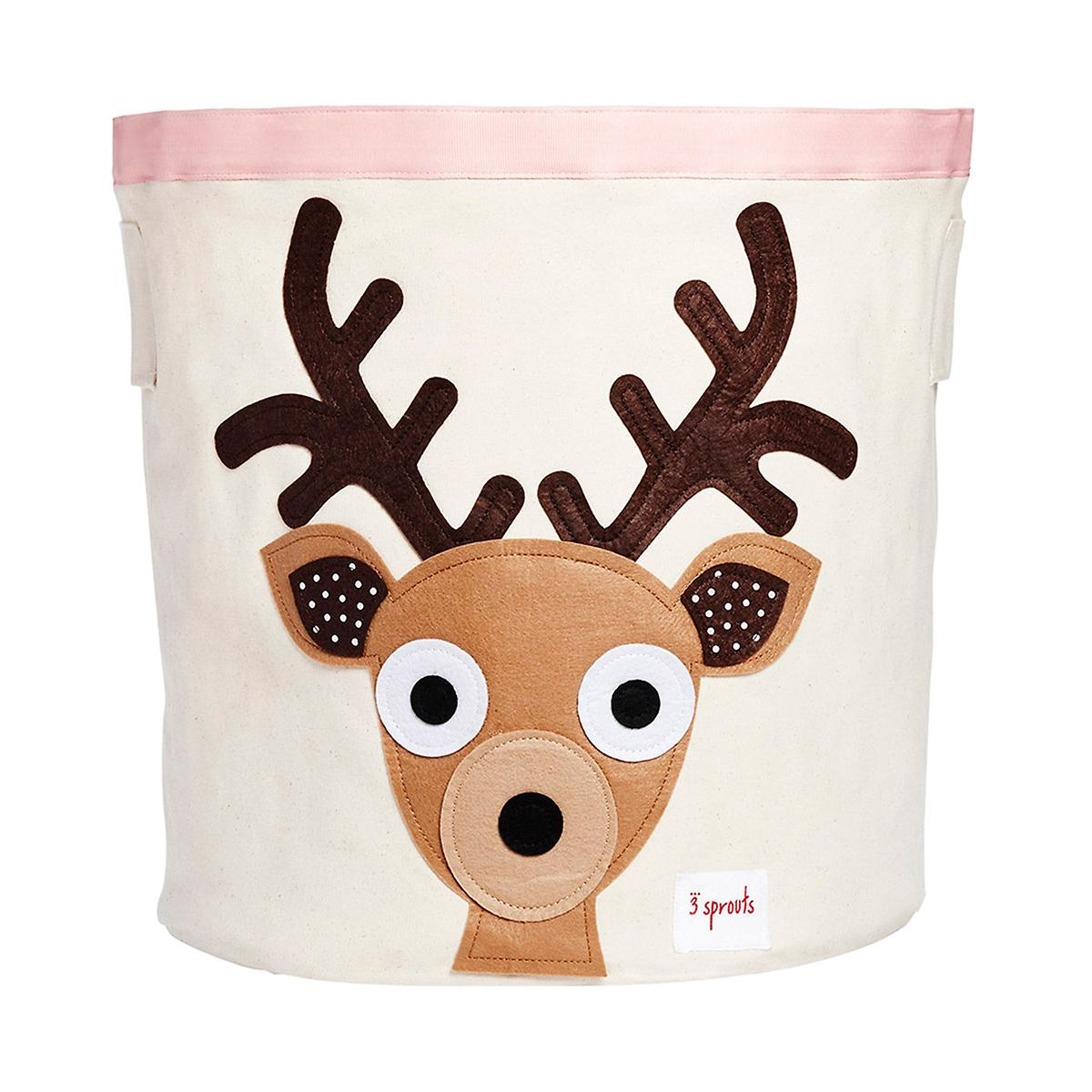 3 Sprouts Deer Canvas Toy Storage Bin