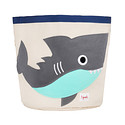 3 Sprouts Shark Canvas Toy Storage Bin
