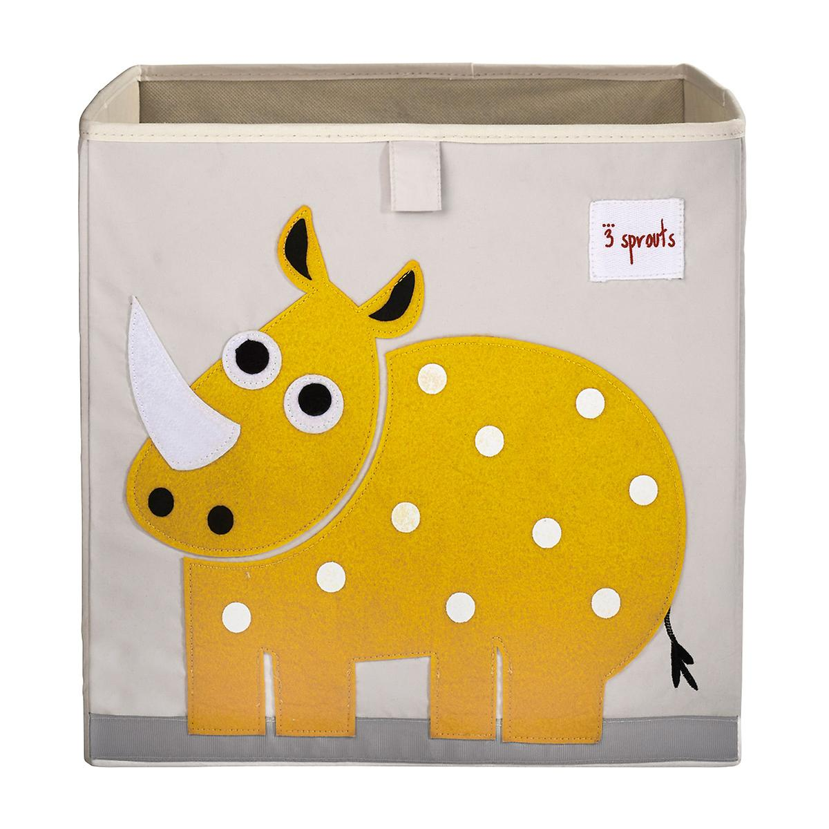 3 Sprouts Rhino Toy Storage Cube
