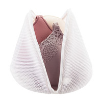 White Mesh Bra Wash Bag