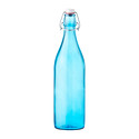 Blue Giara Glass Water Bottle