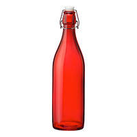 Red Giara Glass Water Bottle