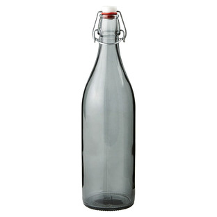 Slate 34 oz. Giara Glass Water Bottle