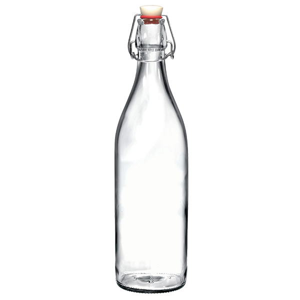 Clear 34 oz. Giara Glass Water Bottle