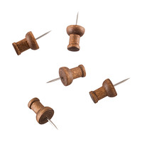 U-Brands Walnut Push Pins