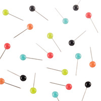 U-Brands Brights Map Push Pins