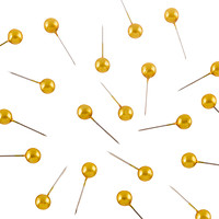 U-Brands Gold Map Push Pins
