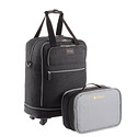 "Black Biaggi 22"" Zipsak 4-Wheeled Folding Duffel"