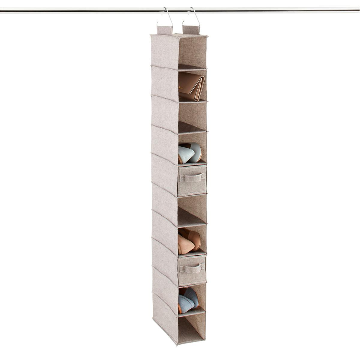 b611859176cb0 Grey 10-Compartment Hanging Shoe Organizer Drawer | The Container Store