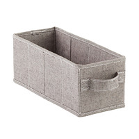 Grey Linen 10-Compartment Hanging Shoe Organizer Drawer