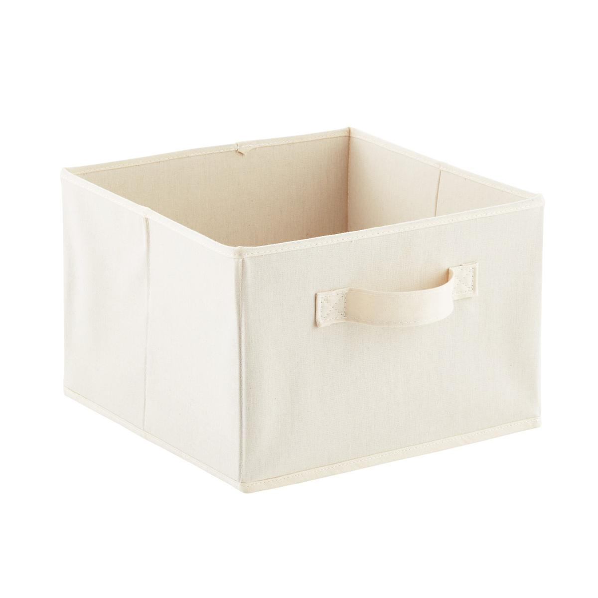3- & 6-Compartment Natural Canvas Hanging Sweater Organizer Drawer