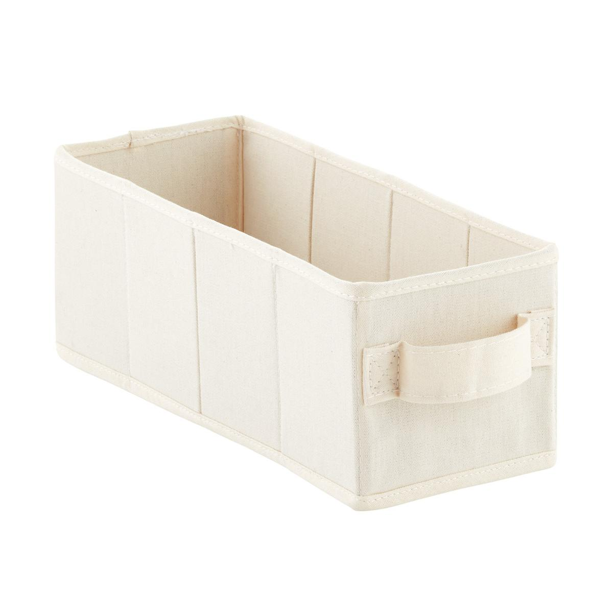 10-Compartment Natural Canvas Hanging Shoe Organizer Drawer