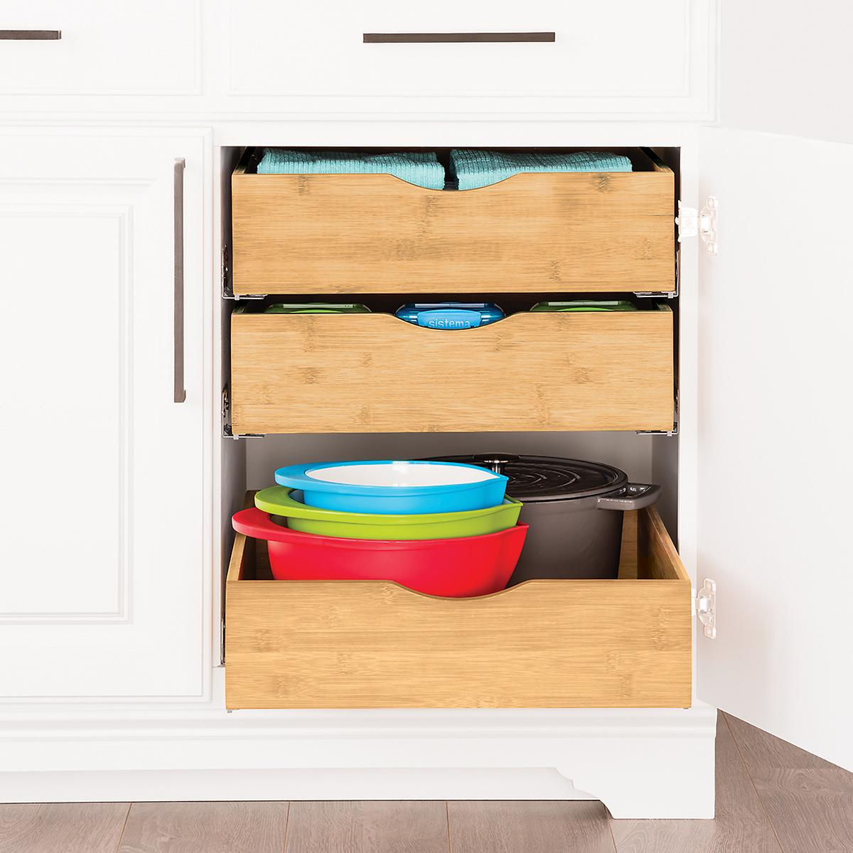 cabinet organizers & kitchen cabinet storage | the container store