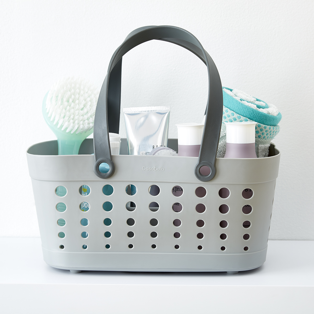 Casabella Grey Flexible Shower Basket