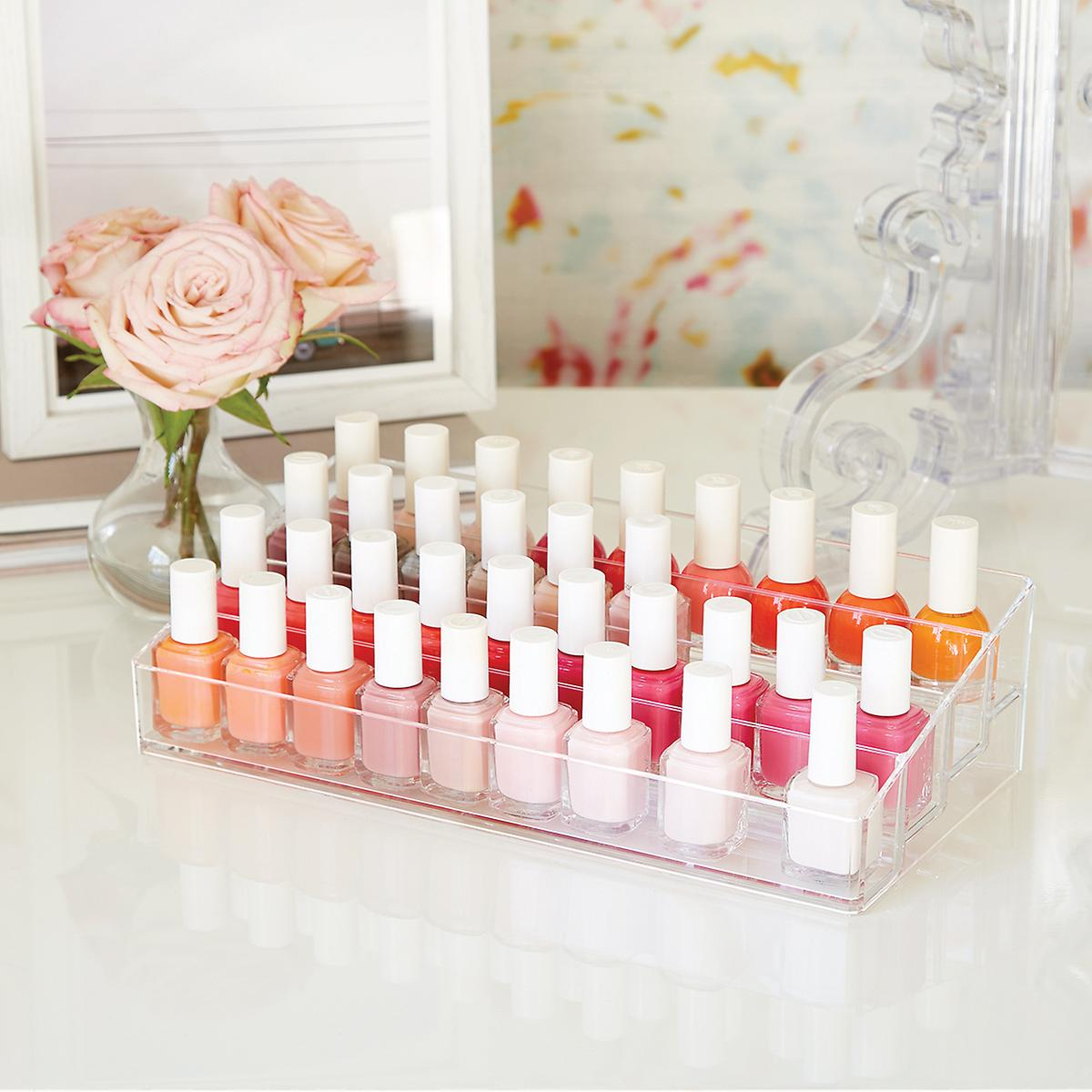40-Bottle Acrylic Nail Polish Riser | The Container Store