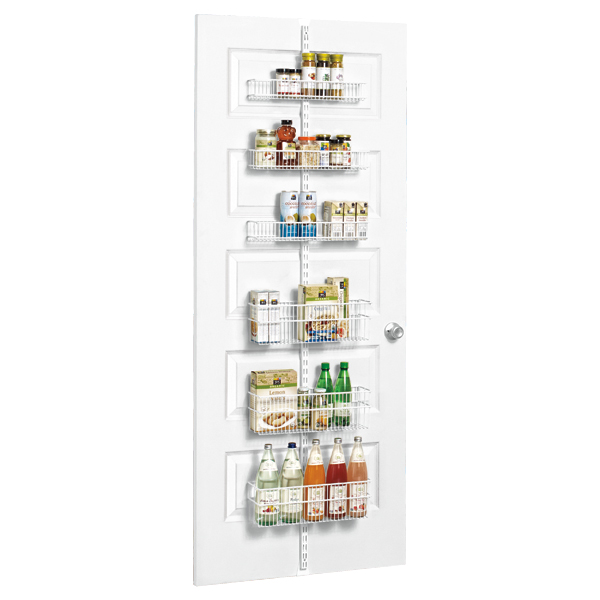 White Elfa Utility Pantry Over the Door Rack