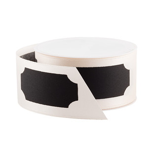 White Chalkboard Label Ribbon