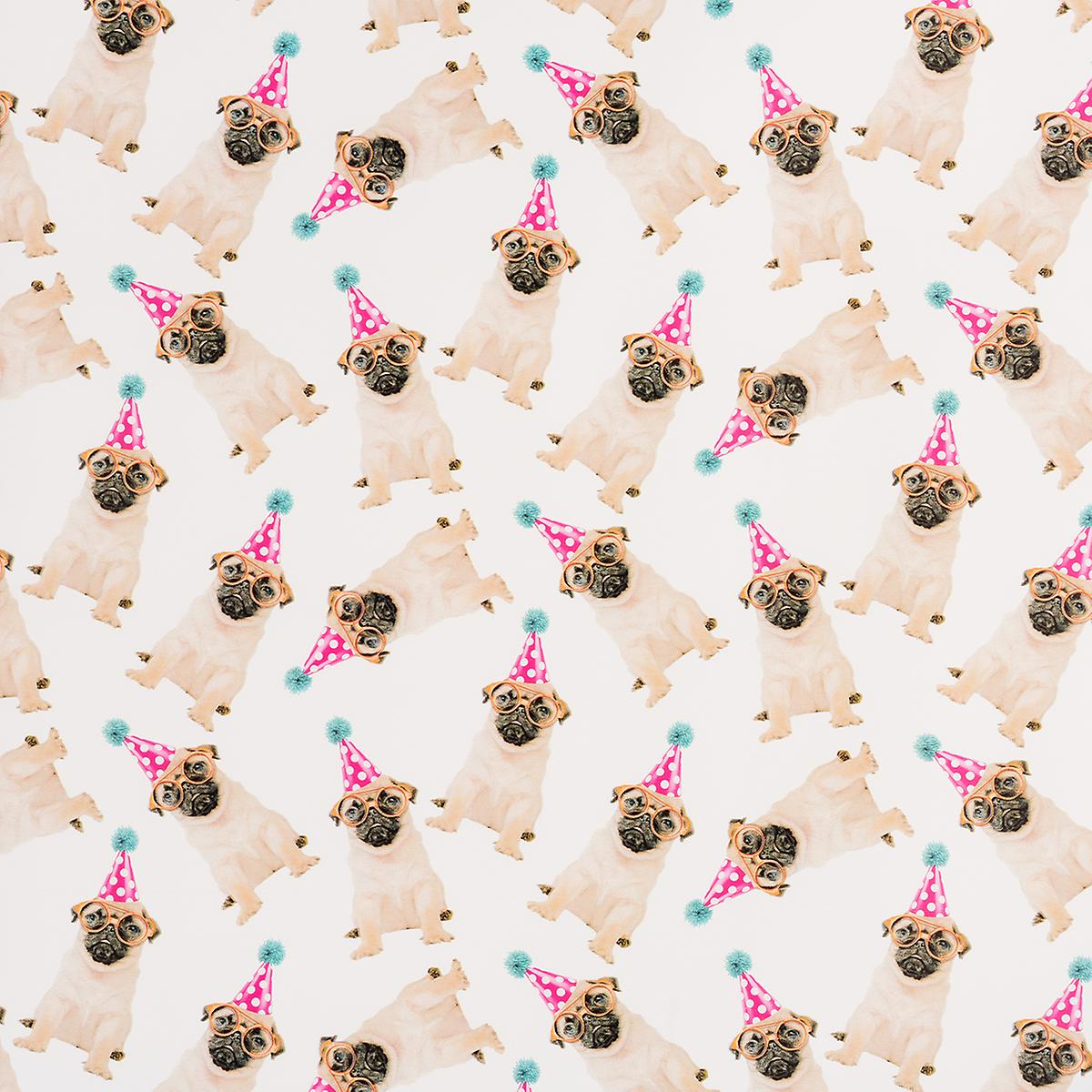 Birthday Pugs Wrapping Paper