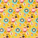 Birthday Animal Balloons Wrapping Paper