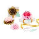 Pink & Gold Paper Flower Kit