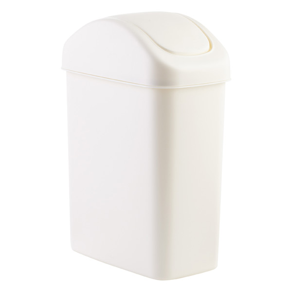4.6 gal. White Swing-Lid Trash Can