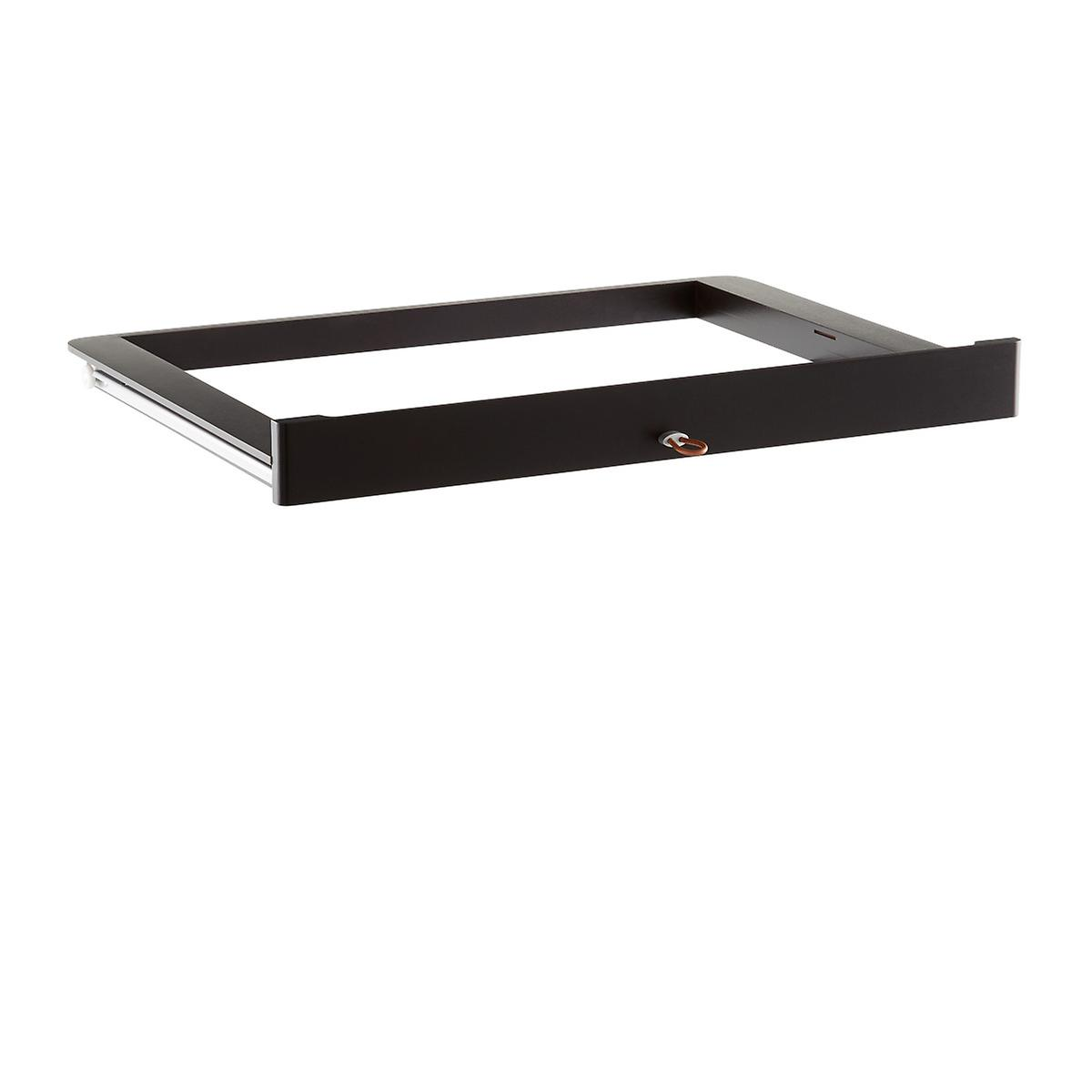 Walnut elfa décor Accessory Tray Drawer Frame & Front