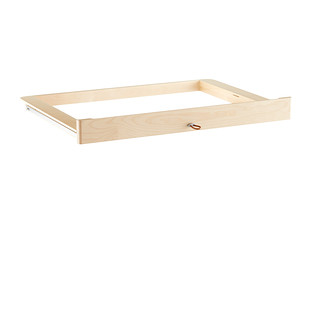Birch Elfa Décor Accessory Tray Drawer Frame & Front