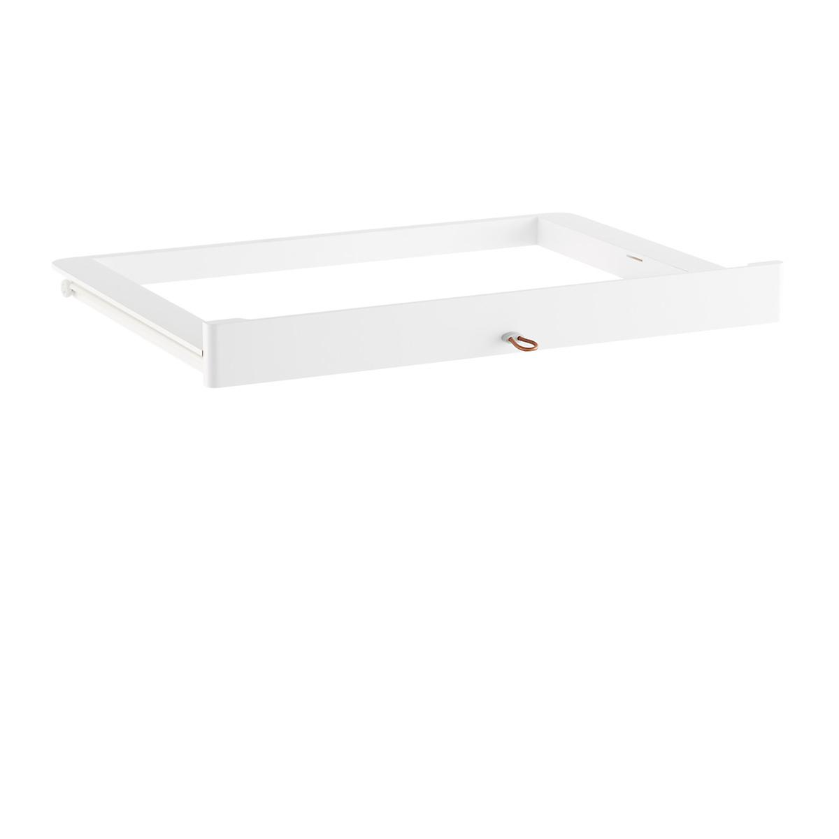 White Elfa Décor Accessory Tray Drawer Frame & Front