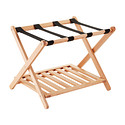 Oak Luggage Rack With Shelf