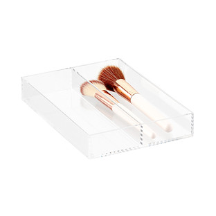 Luxe Acrylic Long 2-Section Divided Drawer Insert