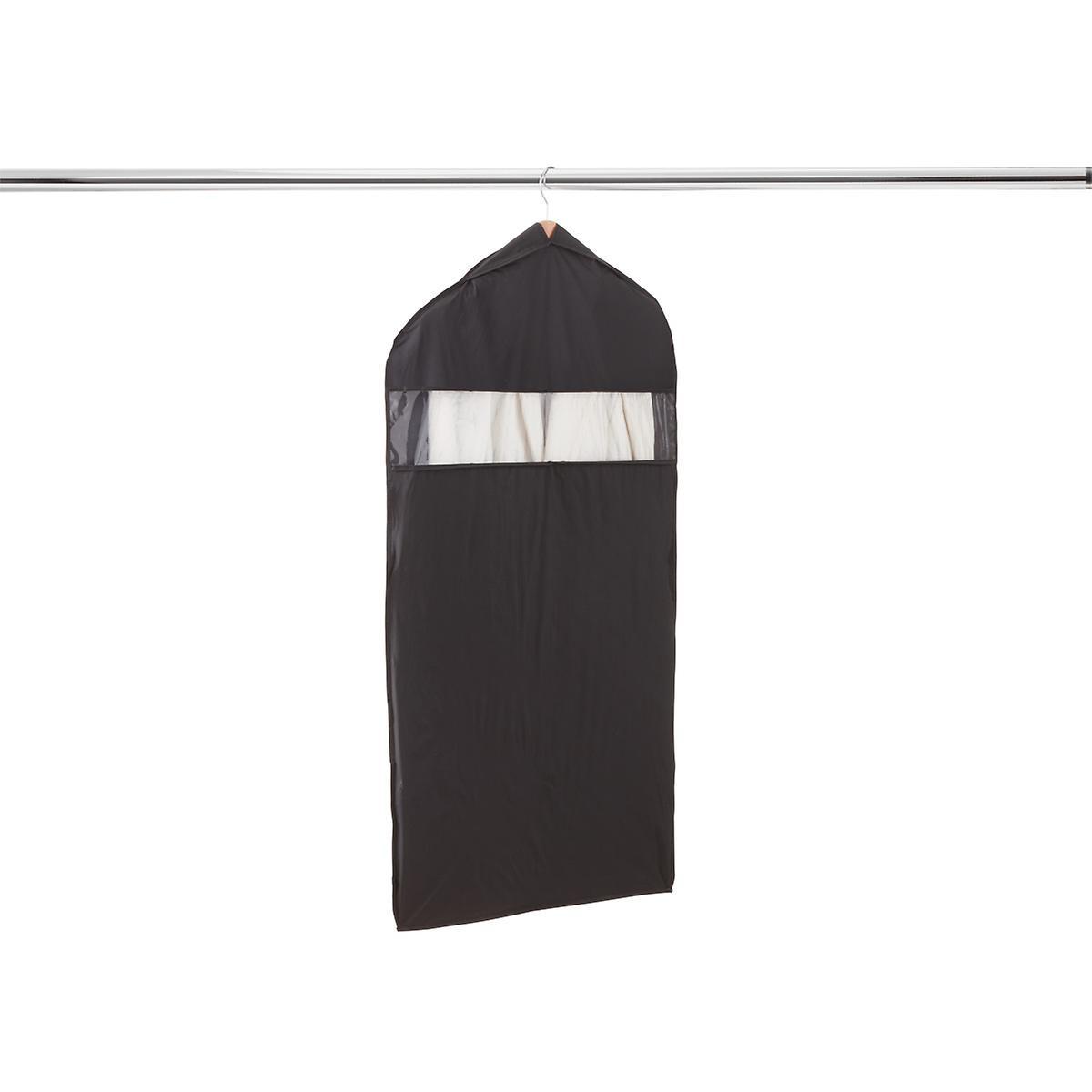 Black PEVA Hanging Suit Bag
